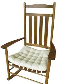 100 Jumbo Rocking Chair Seat Cushion W Ties Natural Unbleached Cotton Duck