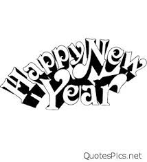 black and white new year clip art – Merry Christmas & Happy New