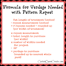 Material For Curtains Calculator by Computing Yardage With Pattern Repeat