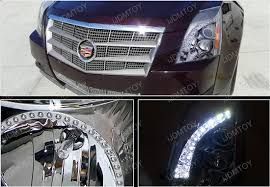 08 13 Cadillac CTS Chrome Aftermarket Projector LED Headlights