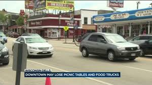 Downtown Wisconsin Dells May Soon Lack Picnic Tables, Food Trucks - WISC New Life In Dtown Waco Creates Sparks Between Restaurants Food Hot Mess Food Trucks North Floridas Premier Truck Builder Portland Oregon Editorial Stock Photo Image Of Roll Back Into Dtown Detroit On Friday Eater Will Stick Around Disneylands Disney This Chi Phi Bazaar Central Florida Future A Mo Fest Saturday September 15 2018 Thursday Clamore West Side 1 12 Wisconsin Dells May Soon Lack Pnic Tables Trucks Wisc Lot Promise Truck Court Draws Mobile Eateries Where To Find Montreal 2017 Edition