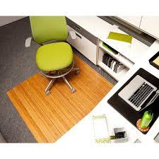 Desk Chair Mat Walmart by Natural 48 X 52 Bamboo Roll Up Office Chair Mat 1 4 Inch Thick