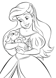 The Little Mermaid 2 Baby Melody Coloring Pages Princess Characters Colouring Full Size
