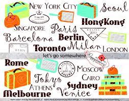 Clip Art World Cities Clipart 1