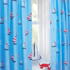 Navy And White Striped Curtains Uk by Nautical Curtains Ebay