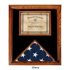 Premium USA Made Solid Oak Flag And Document Case