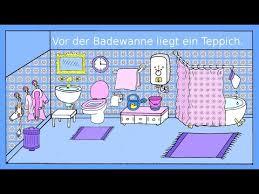 lernen das badezimmer dativ präpositionen german lesson for beginners