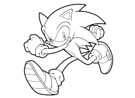 Cabeza De Sonic Para Colorear