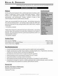 Teaching Resume Objective Education Template Word Teacher 2016 For Educational Examples