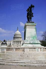 USA Washington DC View Of The Capitol Building And Ulysses S Grant Memorial