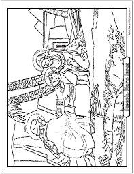 Printable Bible Story Coloring Page The Holy Family Flight Into Egypt