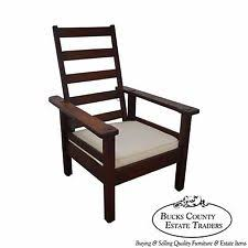 Stickley Furniture Leather Recliner by Stickley Antique Chairs 1900 1950 Ebay