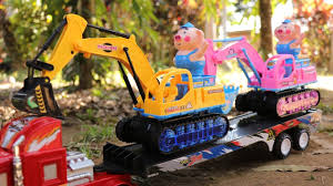 100 Big Truck Toys Excavator Construction For Kids In Action At The River