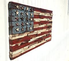Rustic American Flag Wall Art Staggering Decor With Wood