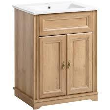 waschtischunterschrank ohne waschbecken 60 cm celaya 56 holzoptik eiche nb b x h x t ca 60 x 79 x 45cm
