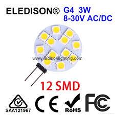 12v ac 24v dc g4 led light bulb 2w diameter 30mm china