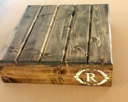 Wedding Initial Cake Stand Reclaimed Wood Customizable Personalized Rustic Country Decor