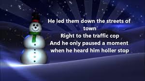 Frosty The Snowman Christmas Tree Theme by Jimmy Durante Frosty The Snowman Lyrics Youtube