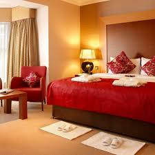 Bedroom Decoration Ideas Red Creamy Theme Design With