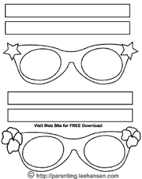 Eyeglasses Mask Coloring Sheet