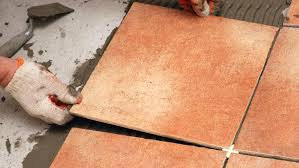 how to tile the floor by yourself diy ceramic tile laying slate