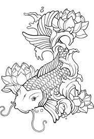 Tremendous Koi Fish Coloring Page Pages For Adults Designs Canvas