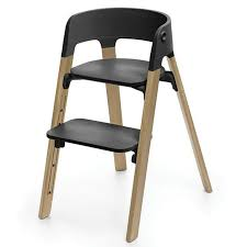 Stokke - Steps Chair - Oak Natural Legs With Black Seat