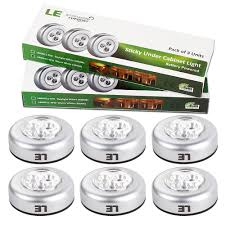 le 6 pack led battery operated stick on tap light mini