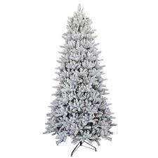 Pre Lit Led Flocked Balsam WRGB Artificial Christmas Tree