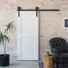 The 2 Panel Barn Door Is Simple And Elegant. The Sharp Edges And ... White Barn Door Track Ideal Ideas All Design Best 25 Sliding Barn Doors Ideas On Pinterest 20 Diy Tutorials Jeff Lewis 36 In X 84 Gray Geese Craftsman Privacy 3lite Ana Door Closet Projects Sliding Barn Door With Glass Inlay By Vintage The Strength Of Hdware Dogberry Collections Zoltus Space Saving And Creative