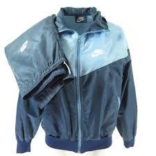 vintage 80s nike track suit jacket womens l pants l blue sport two