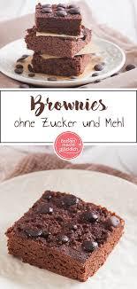 low carb brownies ohne zucker backen macht glücklich