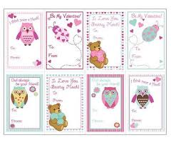 Animals Valentine Cards Templates For Kids Super Cute Easy To Use Great Craft