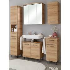 badezimmer badmöbel set 5 teilig riviera eiche quer