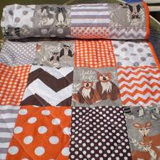 Woodland Creatures Nursery Bedding by Shop Modern Baby Boy Quilts On Wanelo