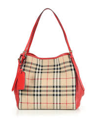 burberry siege social lyst burberry canter small horseferry check tote in