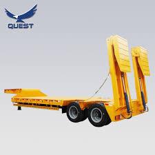 100 Truck Bed Ramp China 2 Axles 40 Tons Folding Hydraulic Lowboy Trailer