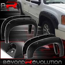 100 Poly Truck Fenders 0713 GMC Sierra 1500 Bolt On Rivet Pocket Style Fender Flares