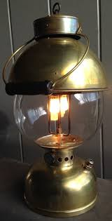 converting a lantern to an electric bulb table light coleman