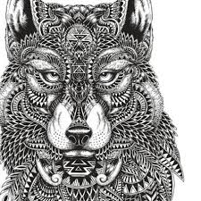 Adult Coloring Pages Mayan Wolf Adultcoloringguide