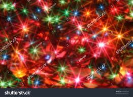 Blinking Christmas Tree Lights by Colorful Twinkling Christmas Lights Blurred Background Stock Photo