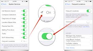 turn off frequent locations iphone
