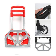 100 Collapsible Hand Truck 170lbs Cart Folding Dolly Trolley Push Moving