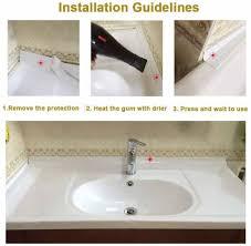 neue dichtung streifen bad dusche waschbecken bad abdichten band weiß pvc selbst klebstoff wasserdichte wand aufkleber für bad küche