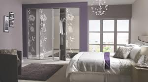 Bedroom BQ Ideas Contemporary Floral Sliding Wardrobe Doors