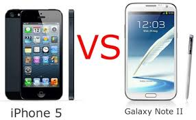 Apple iPhone 5 vs Samsung Galaxy Note 2 – Two Different Worlds