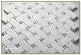 carrara marble basketweave mosaic tile tiles home decorating
