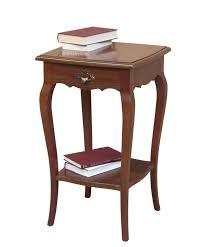 lenfassung tisch hoher tisch aus holz einrichtung für wohnzimmer flur 1 schubladen 1 einlegeboden