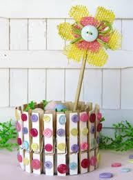 DIY Tutorial Clothespin Crafts Craft Spring Home Decor