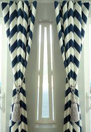 Gold And White Chevron Curtains by Navy Blue And White Chevron Curtains Window Treatments Cotton